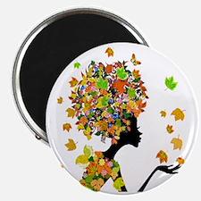 Flower Power Lady Magnet