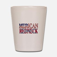 Merican Redneck USA Confederate Flag Shot Glass