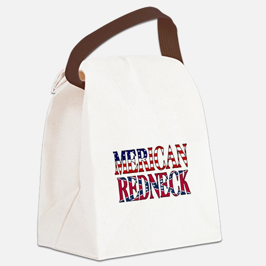 Merican Redneck USA Confederate Flag Canvas Lunch