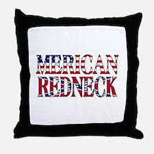 Merican Redneck USA Confederate Flag Throw Pillow