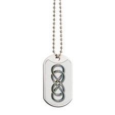 Double Infinity Blue - Dog Tags