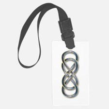 Double Infinity Blue/Gold - Luggage Tag
