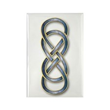 Double Infinity Blue/Gold - Rectangle Magnet