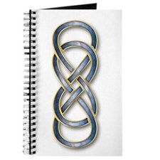 Double Infinity Cloisonne Blue/Gold - Journal