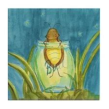 Light In A Jar Tile Coaster