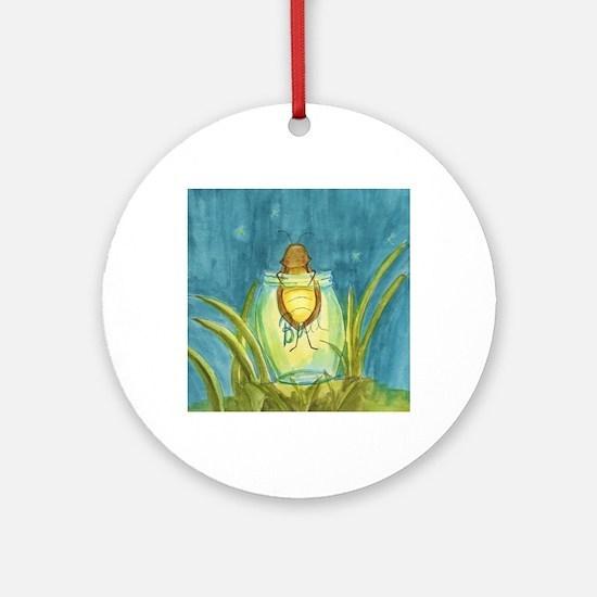 Light In A Jar Round Ornament