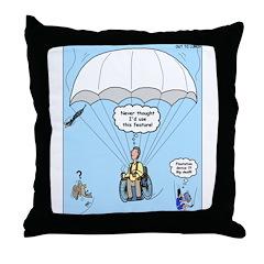 Wheelchair Parachute Throw Pillow