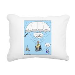 Wheelchair Parachute Rectangular Canvas Pillow