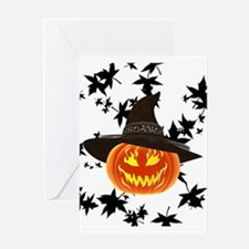 Grinning Pumpkin Greeting Cards