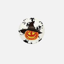 Grinning Pumpkin Mini Button (10 pack)