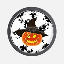 Grinning Pumpkin Wall Clock
