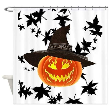 Grinning Pumpkin Shower Curtain By Red Letter Days