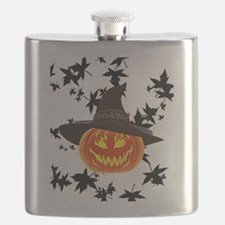 Grinning Pumpkin Flask