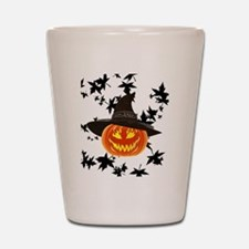 Grinning Pumpkin Shot Glass
