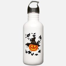 Grinning Pumpkin Sports Water Bottle