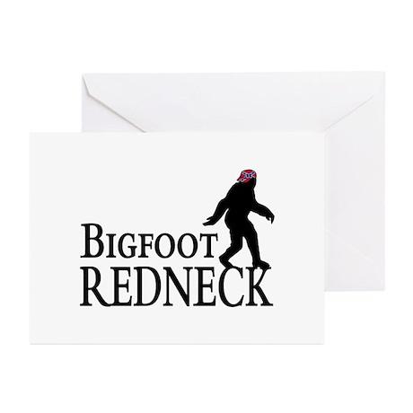 Bigfoot Redneck Confederate Greeting Cards (Pk of