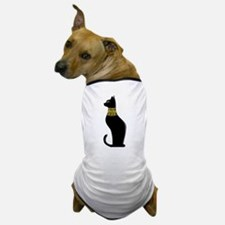 Black Eqyptian Cat with Gold Jeweled Collar Dog T-