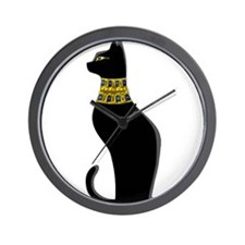 Black Eqyptian Cat with Gold Jeweled Collar Wall C