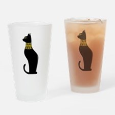 Black Eqyptian Cat with Gold Jeweled Collar Drinki
