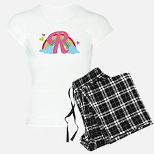 Letter R Rainbow Monogrammed Pajamas