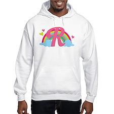 Letter R Rainbow Monogrammed Hoodie