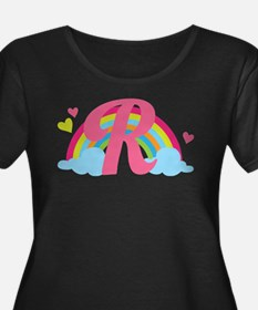 Letter R Rainbow Monogrammed T