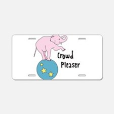 Crowd Pleaser Aluminum License Plate