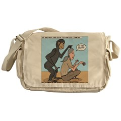 Monkey Grooming Messenger Bag