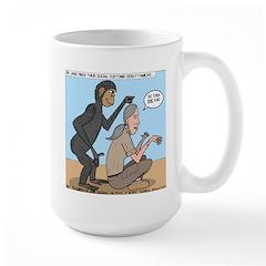 Monkey Grooming Large Mug