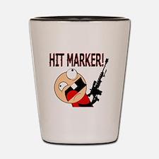 Funny Hit Marker Rage Shot Glass