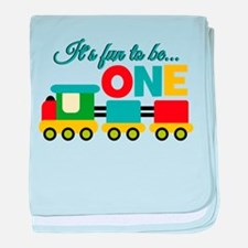 Its Fun to be One Birthday Design baby blanket