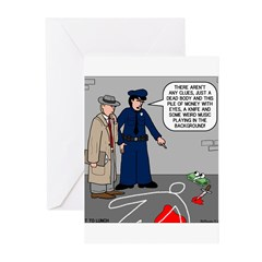 Murder Mystery Greeting Cards (Pk of 10)
