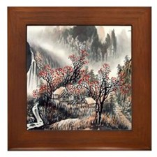 Beautiful Mountain View Framed Tile