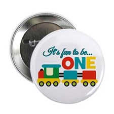 "Its Fun to be One Birthday Design 2.25"" Button (10"