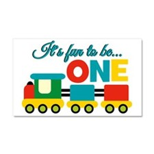 Its Fun to be One Birthday Design Car Magnet 20 x