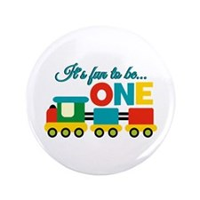 """Its Fun to be One Birthday Design 3.5"""" Button (100"""