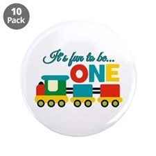 """Its Fun to be One Birthday Design 3.5"""" Button (10"""
