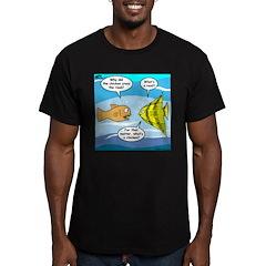 Stupid Fish Jokes Men's Fitted T-Shirt (dark)