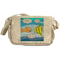 Stupid Fish Jokes Messenger Bag