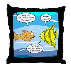 Stupid Fish Jokes Throw Pillow