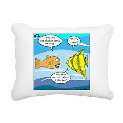 Stupid Fish Jokes Rectangular Canvas Pillow