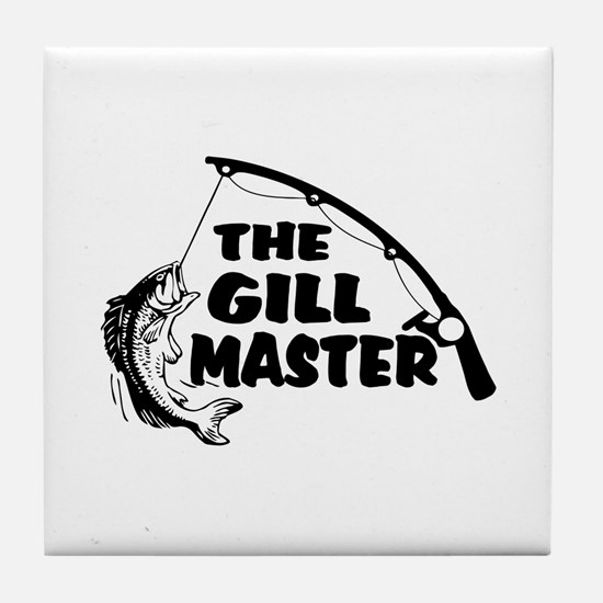 Fisherman As The Gill Master Tile Coaster
