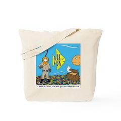 Fish Tank Diver Tote Bag