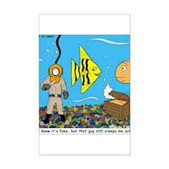Fish Tank Diver Posters