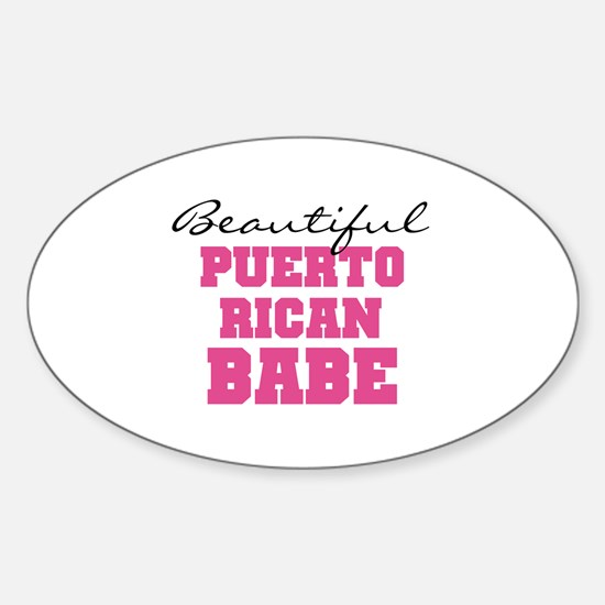 Puerto Rican Babe Oval Decal