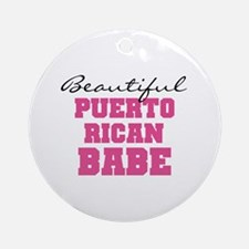 Puerto Rican Babe Ornament (Round)