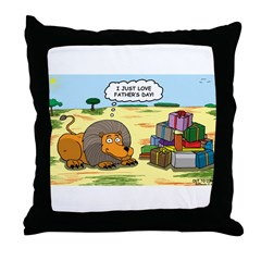 Lion Fathers Day Throw Pillow