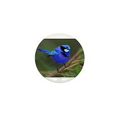 Blue Wren Mini Button (100 pack)