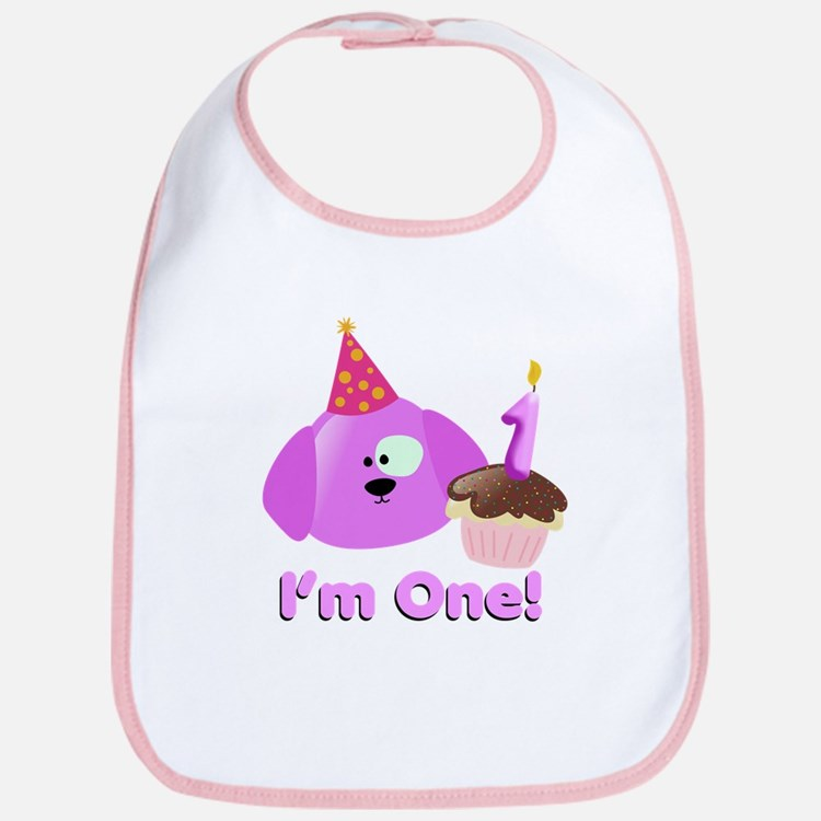 1st Birthday Puppy Bib