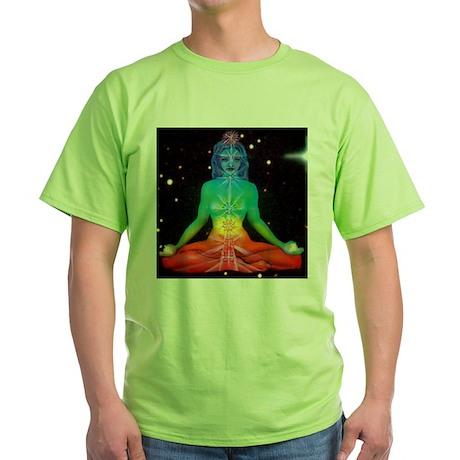 CHAKRAS 3 Green T-Shirt